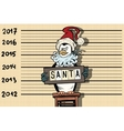 Penguin arrested for a Santa suit New year and vector image vector image