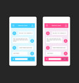 phone chat interface vector image vector image