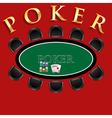 Poker table vector image