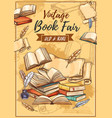rarity books fair and vintage bookstore sketch vector image vector image