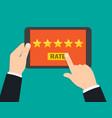 rating and review customer reviews vector image