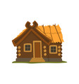 rustic wooden log cabin on a vector image vector image