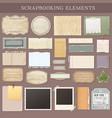 scrapbooking elements vector image vector image