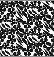 silhouette flowers and leaves seamless pattern vector image vector image