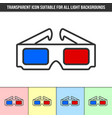 simple outline transparent anaglyphic 3d glasses vector image vector image