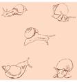 Snails Pencil sketch by hand Vintage colors vector image vector image