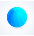 Sphere blue ball vector image vector image