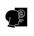 staff analysis black icon sign on isolated vector image vector image
