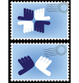 stamp postage vector image