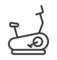 stationary bicycle line icon fitness and sport vector image