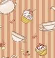 tea party pattern vector image vector image