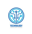 technology - logo template vector image vector image