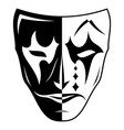 theatrical mask 2 vector image vector image