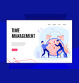 time management concept banner vector image vector image