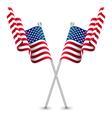 usa waving flag vector image vector image