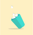 wastebin full of paperwaste vector image