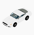 white sport car isometric view generic car sport vector image vector image