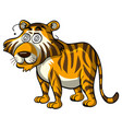 wild tiger with dizzy eyes vector image