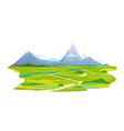 winding way to the mountains vector image vector image