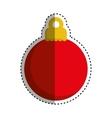 xmas decorative ball vector image vector image