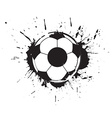 abstract grunge football vector image