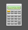 realistic electronic grey calculator vector image