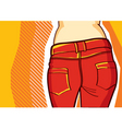fashion jeans background vector image