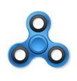plastic fidget spinner stress relieving toy vector image