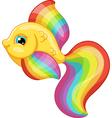rainbow fish vector image