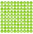 100 pointers icons set green circle vector image vector image