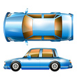 A blue sedan car vector image vector image