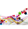 Abstract colorful futuristic design vector image vector image
