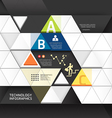 Abstract infographic Design Minimal Triangle shape vector image vector image