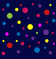 abstract pattern with dots colorful background vector image vector image