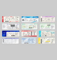 airline tickets boarding passes air travel vector image
