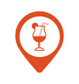 bar location icon cafe pinpoint isolated vector image vector image