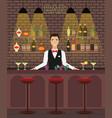 bar pub interior flat vector image