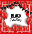 black friday background with black festoons and vector image vector image