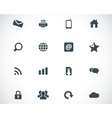Black internet icons set
