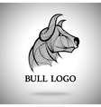 Bull logo template for sport teams vector image vector image