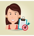 business person isolated icon design vector image