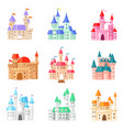 cartoon castle fairytale medieval tower of vector image vector image