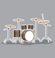 classic musical instrument drum set image vector image vector image