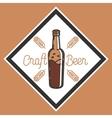 Color vintage beer brewery emblem vector image vector image