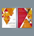 cover annual report 1156 vector image