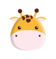 cute giraffe isolated icon vector image