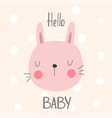 cute poster with bunny vector image vector image
