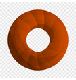 donut cookies icon cartoon style vector image
