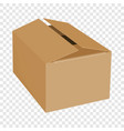 empty box mockup realistic style vector image vector image