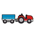 farm tractor with carriage vector image vector image